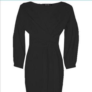 33f5cc19e45f Boohoo Dresses | Nina Off The Shoulder Wrap Midi Bodycon | Poshmark